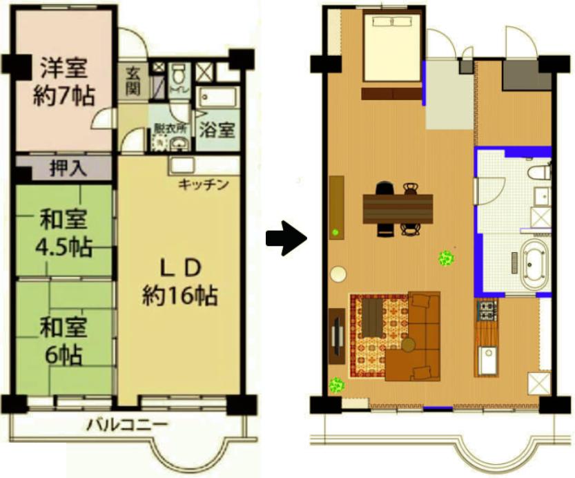 武蔵浦和の図面