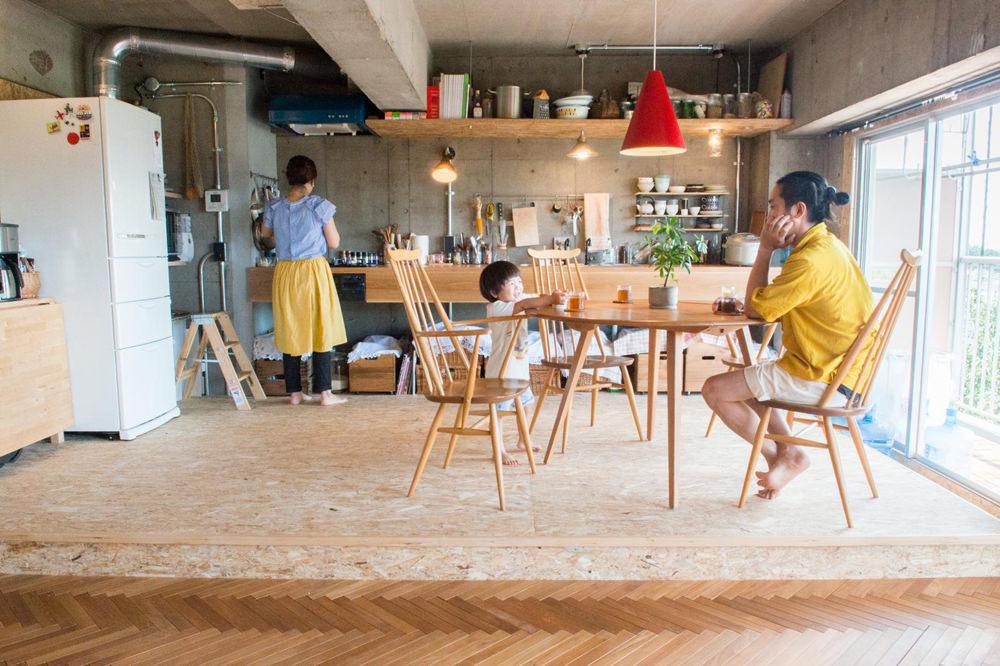 空間効率の良い壁付けキッチン