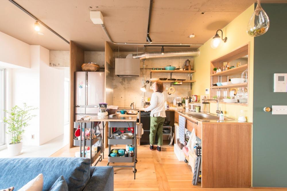 造作棚のキッチン収納